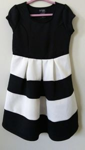 Black & White girl's dress, cap sleeves NWT
